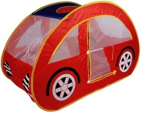 PIGLOO Car Pop-Up Play Tent House for Kids Ages 3+ Years, 125x55x75cm, 1 Piece(Red)
