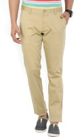 Parx Tapered Men Beige Trousers