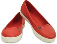 Crocs Women Flame/White Flats