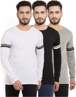 Billion PerfectFit Solid Men Round Neck Multicolor T-Shirt(Pack of 3)
