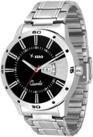 Xeno Latest Fashionable Black Designer New Look Stylish Titanium Day Date Boys Watch  - For Men