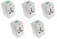 Oxza Set of 5 Universal Worldwide Adaptor(White)