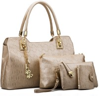 Tanned Hand-held Bag(Gold)