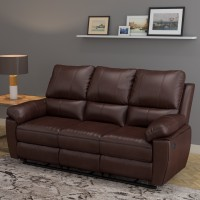 @home by Nilkamal Half-leather Manual Recliners(Finish Color - Brown)