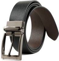 Winsome Men Formal, Casual Black Genuine Leather Reversible Belt