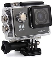Royal Mobiles 4K Ultra HD 12 MP WiFi Waterproof Digital Action & Sports Body only Sports & Action Camera(BlackGrey Silver)