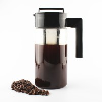 InstaCuppa Cold Brew Coffee Maker | Iced Tea Pot | Fruit Infuser Pitcher 1300ml, Premium BPA Free TritanJar, Fine Mesh Filter Infusion Unit 13 Cups Coffee Maker(Black)