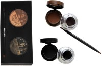 ADS 24 HR Eye Powder & Waterproof Eyeliner Gel 7 g(Black, Brown)