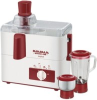 Maharaja Whiteline MARK-1 (JX-100) 450 Juicer Mixer Grinder(White, 2 Jars)