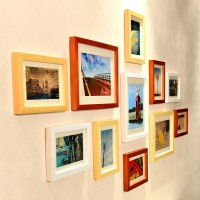 WollWoll Wood Photo Frame(Multicolor, 11 Photos)
