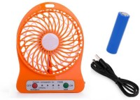 View Zblack ZBS2017 High Speed Wireless Rechargeable (USB Charging & 2200 mAH Battery) Wireless Rechargeable Mini USB Fan(Orange) Laptop Accessories Price Online(Zblack)