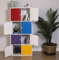 Woodness Engineered Wood Close Book Shelf