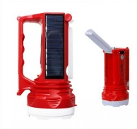 View Safeseed ® Solar LED Torch Rechargeable Hand Light Lamp with built in power plug Emergency Lights(Green, Red) Home Appliances Price Online(Safeseed)