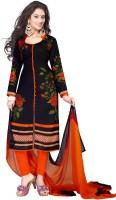 Ishin Crepe Printed Salwar Suit Dupatta Material(Un-stitched)