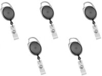 Art Craft Plastic ID Badge Reel, ID Badge Holder(Pack of 5)