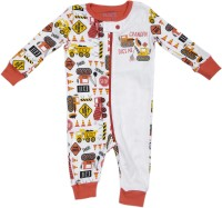 The Children's Place Kids Nightwear Boys Graphic Print Cotton(White Pack of 1)