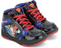 Superman Boys Lace Sneakers(Black)