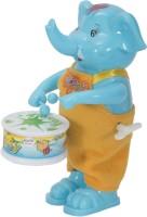 Aaryan Enterprise Funny WindFunny Windup Elephant Drummer Toyup Elephant Drummer Toy(Blue)