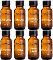 NAWAB Set of 8 essential aroma Diffuser oil(Lavender,Lemongrass,Rose,Jasmine,citronella,Eucalyptus,Sandalwood,Mogra-15ml each) Aroma Oil(8 x 15 ml)