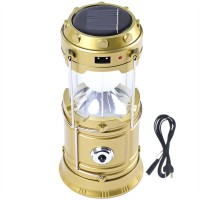 View BalRama 6+1 LED Light Rechargeable Solar Light Collapsible Solar Camping Lantern LED Torch Flashlight with Dual Power Recharger Solar & AC Electricity 220v + Portatable Hand Lamp with Hooks + Charging Cable with Indicator + USB Output for Mobile Charging Jia Hao JH-5800T Solar Lights(Golden) Home Appliances Price Online(BalRama)