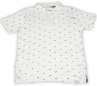 Lee Cooper Juniors Boys Printed Cotton T Shirt(White, Pack of 1)