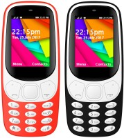 I Kall K35 Combo Of Two Mobile(Red, Black)