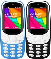 I Kall K35 Combo Of Two Mobile(Light Blue, Black)