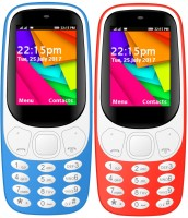 I Kall K35 Combo Of Two Mobile(Light Blue, Red) - Price 1499 25 % Off