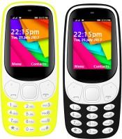 I Kall K35 Combo Of Two Mobile(Black, Yellow)