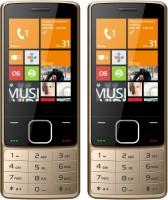 I Kall K6300 Combo of Two Mobile(Golden Black, Golden Black)
