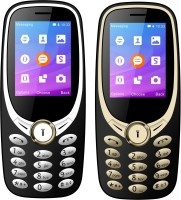 I Kall K3311 Combo with Two Mobile(Golden Black, Golden Silver) - Price 1499 24 % Off