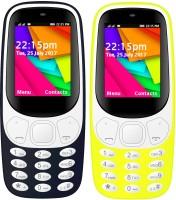 I Kall K35 Combo Of Two Mobile(Dark Blue, Yellow)