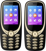 I Kall K3311 Combo With Two Mobile(golden Black)