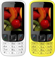I Kall K6303 Combo of Two Mobile(White, Yellow)