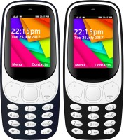 I Kall K35 Combo Of Two Mobile(Dark Blue, Black)
