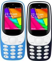 I Kall K35 Combo Of Two Mobile(Light Blue, Dark Blue)