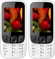 I Kall K6303 Combo of Two Mobile(White, White)