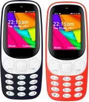 I Kall K35 Combo Of Two Mobile(Dark Blue, Red)