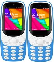 I Kall K35 Combo Of Two Mobile(Light Blue, Light Blue)