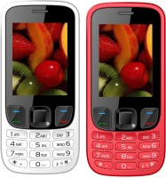I Kall K6303 Combo of Two Mobile(White, Red) - Price 1499 25 % Off