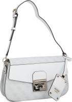 Guess Women White, Grey PU Sling Bag