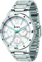 Ismart Men & Boys White Dial Analog Wrist Watch Black Smartwatch(Silver Strap 1)