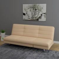 RoyalOak Viva Single Metal Sofa Bed(Finish Color - Beige Mechanism Type - Fold Out)