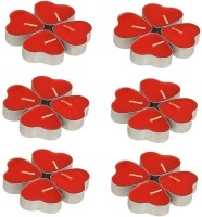 1 For Everyone Heart Candles-24 Candle(Red, Pack of 24)