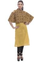 BANDHAN CREATIONS Festive & Party Block Print Women's Kurti(Yellow)