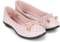 BUBBLEGUMMER Girls Slip on Ballerinas(Pink)