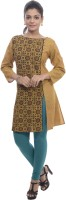 BANDHAN CREATIONS Festive & Party Abstract Women's Kurti(Yellow)