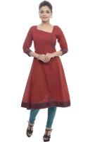 BANDHAN CREATIONS Casual Self Design Women's Kurti(Red)