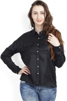 United Colors of Benetton. Women's Solid Casual Purple Shirt