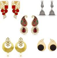 Luxor Classic Diamond Alloy Stud Earring, Jhumki Earring, Chandbali Earring